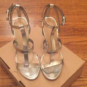 Zara metallic heels size 36/6